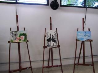 Telas da artista plástica Karen Benedik Santos